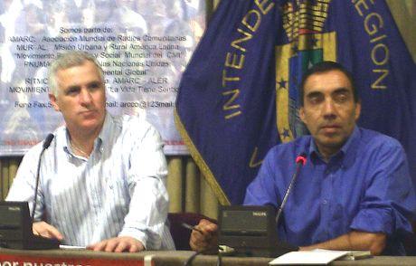 Rene Lues Secretario Ejecutivo del Consejo Regional - Patricio Rivera Periodista de ECO  y Coordinador operativo del programa RITMO SUR (AMARC – ALER)